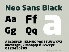 Neo Sans Black Version 001.000 Font Sample