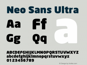 Neo Sans Ultra Version 001.000 Font Sample