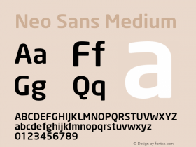 Neo Sans Medium Version 001.000 Font Sample