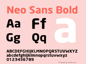 Neo Sans Bold Version 001.000 Font Sample