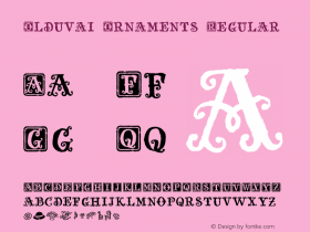 Olduvai Ornaments Regular Unknown Font Sample