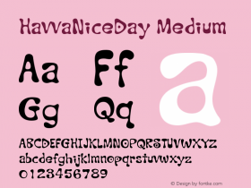 HavvaNiceDay Medium Version 001.000 Font Sample