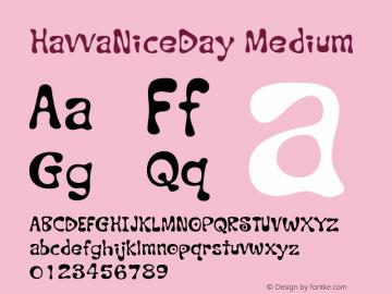 HavvaNiceDay Medium Version 001.000 Font Sample
