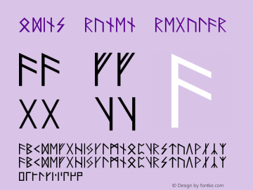 Odins Runen Regular Unknown Font Sample