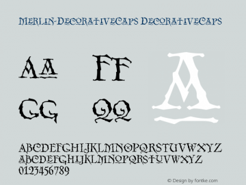 Merlin-DecorativeCaps DecorativeCaps Version 001.000 Font Sample