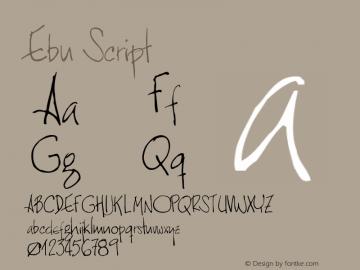 Ebu Script Version 001.000 Font Sample