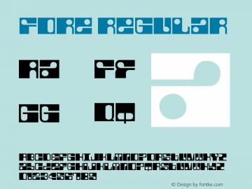 Fore Regular Version 001.000 Font Sample