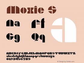 Moxie S Macromedia Fontographer 4.1.5 6/27/04 Font Sample