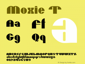 Moxie T Macromedia Fontographer 4.1.5 6/27/04 Font Sample
