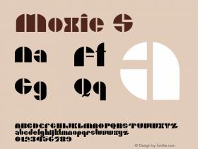 Moxie S Version 001.000 Font Sample