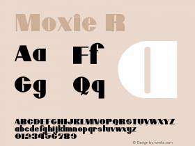 Moxie R Version 001.000 Font Sample