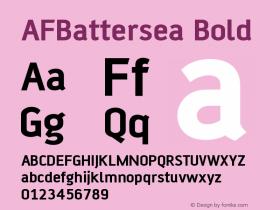 AFBattersea Bold Version 001.000 Font Sample
