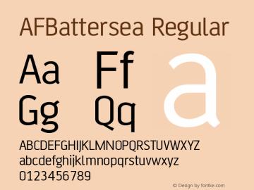 AFBattersea Regular Version 001.000 Font Sample