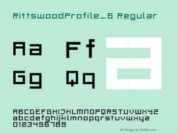 RittswoodProfile_6 Regular 1.0 Font Sample