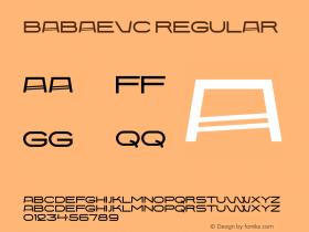 BabaevC Regular Version 001.000 Font Sample