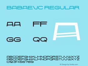 BabaevC Regular Version 1.000;PS 001.001;hotconv 1.0.38 Font Sample