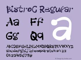 BistroC Regular Version 001.001 Font Sample
