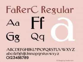 FaRerC Regular OTF 1.0;PS 001.000;Core 116;AOCW 1.0 161 Font Sample