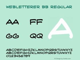 WebLetterer BB Regular Macromedia Fontographer 4.1 6/16/04 Font Sample