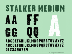 Stalker Medium Version 001.000 Font Sample