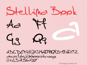 Stellina Book Version 1.00 March 22, 2004, Font Sample