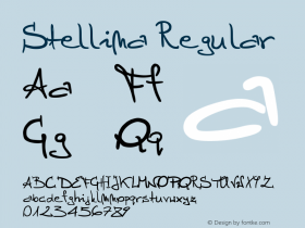 Stellina Regular Version 1.00 March 22, 2004, initial release Font Sample