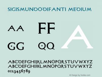 SigismundoDiFanti Medium Version 1.0 2004-06-19 Font Sample