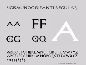 SigismundoDiFanti Regular 1.0 2004-06-19 Font Sample