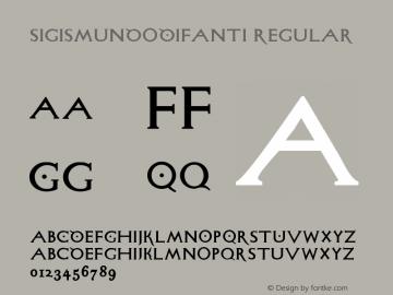 SigismundoDiFanti Regular 1.0 2004-06-19 Font Sample