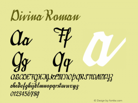 Divina Roman Version 001.001 Font Sample