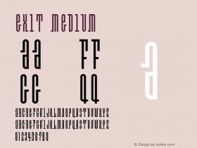 Exit Medium Version 001.000 Font Sample