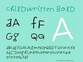 ChildWritten Bold Version 1.0 2004-06-26 Font Sample