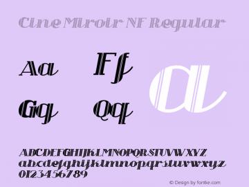 Cine Miroir NF Regular Unknown Font Sample