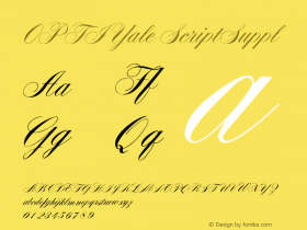 OPTIYale ScriptSuppl Version 001.000 Font Sample