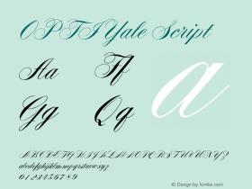 OPTIYale Script Version 001.000 Font Sample