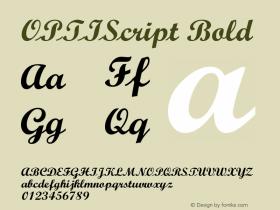 OPTIScript Bold Version 001.000 Font Sample