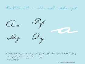 OPTICarmella HandScript Version 001.000 Font Sample