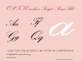 OPTIExcelsiorScript SemiBd Version 001.000 Font Sample