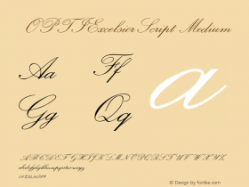 OPTIExcelsiorScript Medium Version 001.000 Font Sample