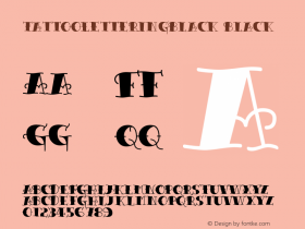 TattooLetteringBlack Black Version Macromedia Fontograp图片样张