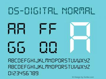 DS-Digital Font|DS-Digital DS core font: V1 00 Sun Jan 03 08