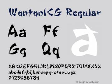 WontonICG Regular 001.000 Font Sample