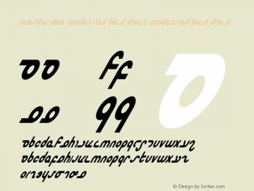 Masterdom Condensed Bold Italic Condensed Bold Italic 1 Font Sample