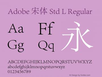 Adobe 宋体 Std L Regular Version 5.002;PS 5.002;hotconv 1.0.49;makeotf.lib2.0.15106图片样张
