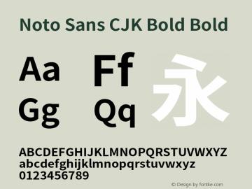 Noto Sans CJK Bold Bold Version 1.000;PS 1;hotconv 1.0.78;makeotf.lib2.5.61930 Font Sample