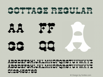 Cottage Regular Unknown Font Sample