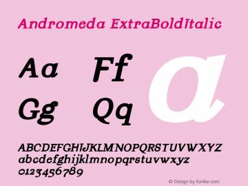 Andromeda ExtraBoldItalic Version 001.000图片样张