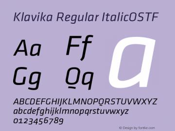 Klavika condensed font Download