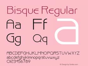Bisque Regular Altsys Fontographer 3.5  11/25/92 Font Sample