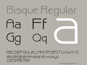 Bisque Regular Altsys Fontographer 3.5  11/23/92 Font Sample